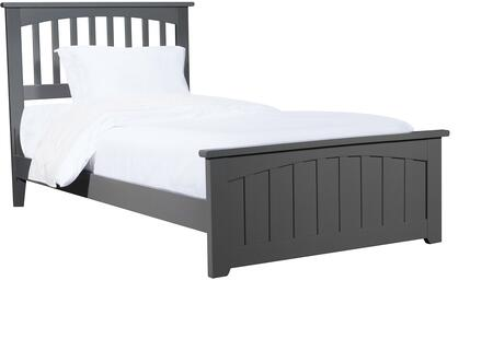 Mission Collection AR8716039 Twin Extra Long Size Bed with Matching Footboard  Mission Slats Headboard  Traditional Style  Foundation Support Boards