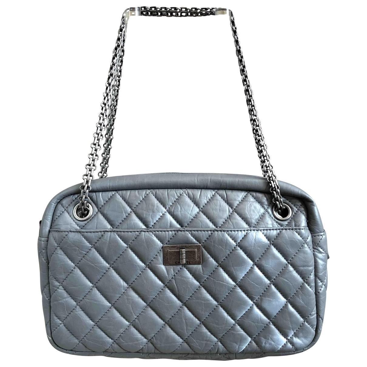 Chanel Camera Grey Leather handbag for Women \N