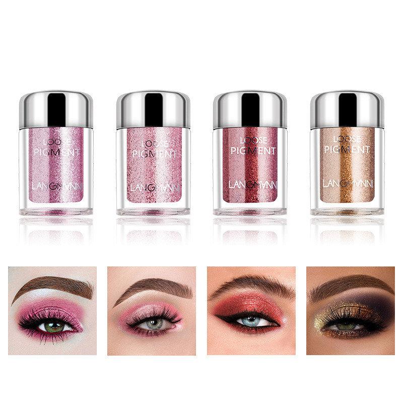 Pearlescent Eyeshadow Powder Diamond Glitter Polarized Lips Brighten Powder Eye Makeup