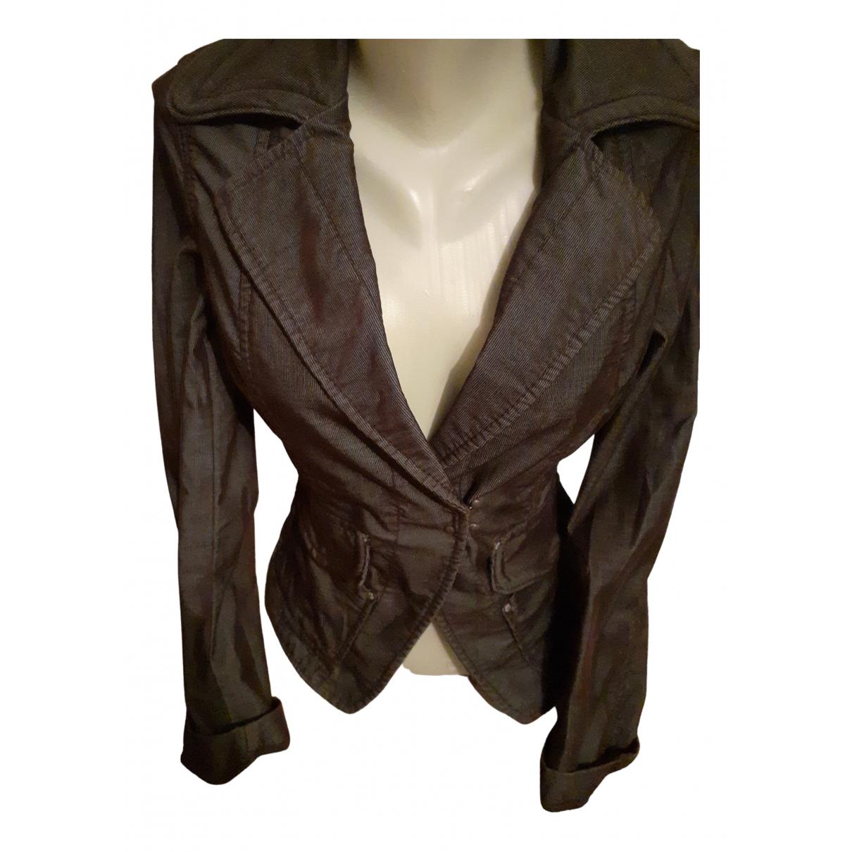 Stefanel - Veste   pour femme en coton - marron