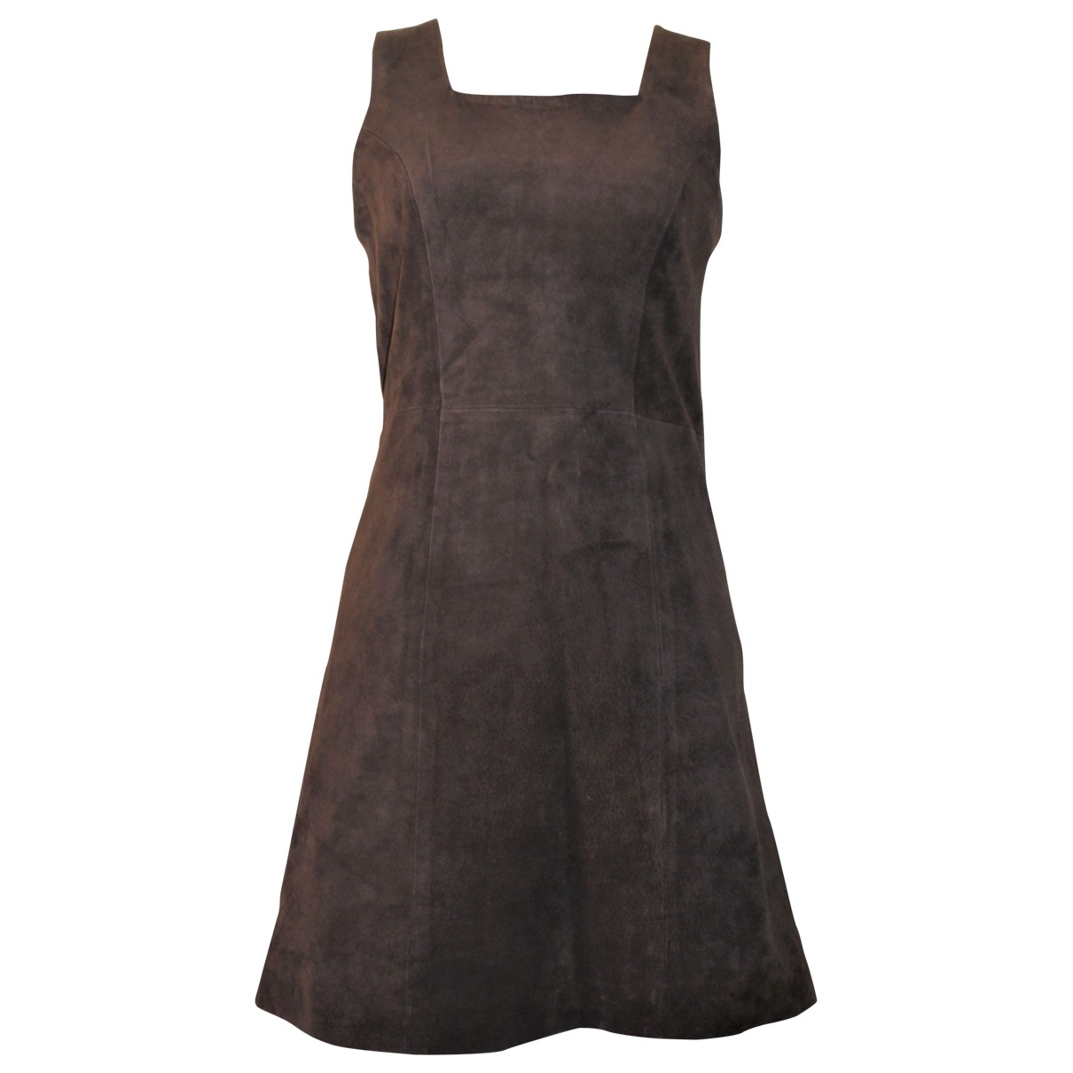 Non Signé / Unsigned \N Brown Leather dress for Women 36 FR