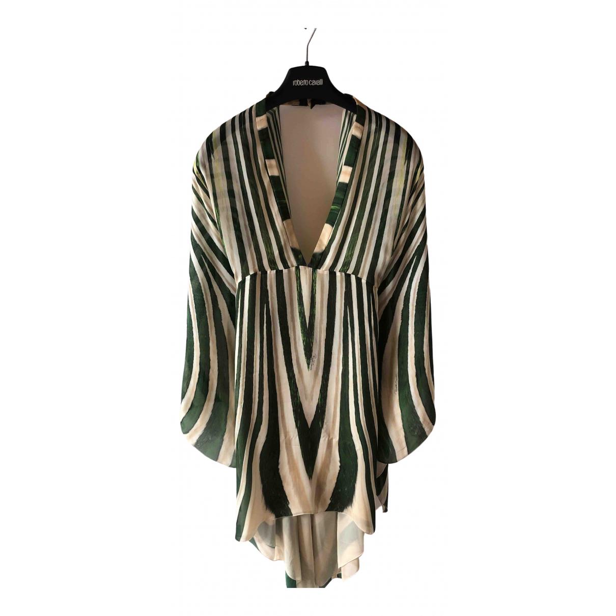 Roberto Cavalli \N Beige Silk dress for Women 44 IT