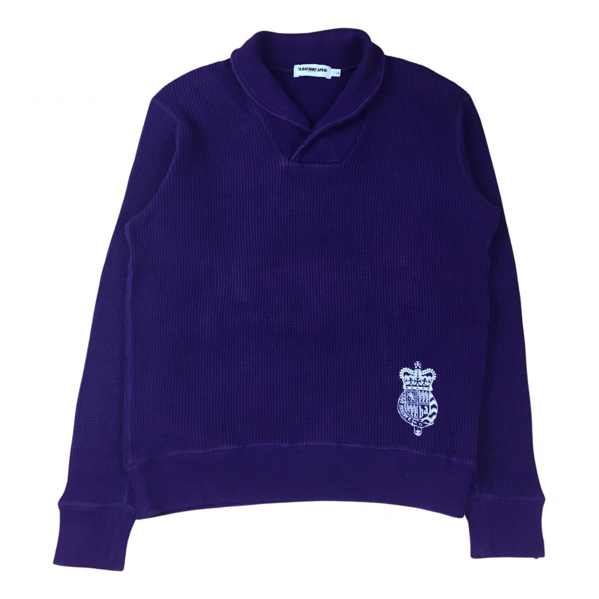 A Bathing Ape - Pulls.Gilets.Sweats   pour homme en coton - violet