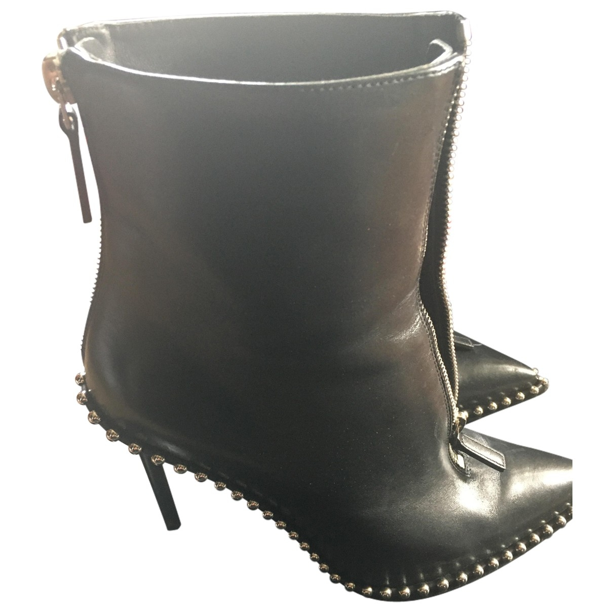 Alexander Wang \N Black Leather Ankle boots for Women 39 EU
