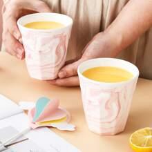 1 Stueck Tasse mit Marmor Muster