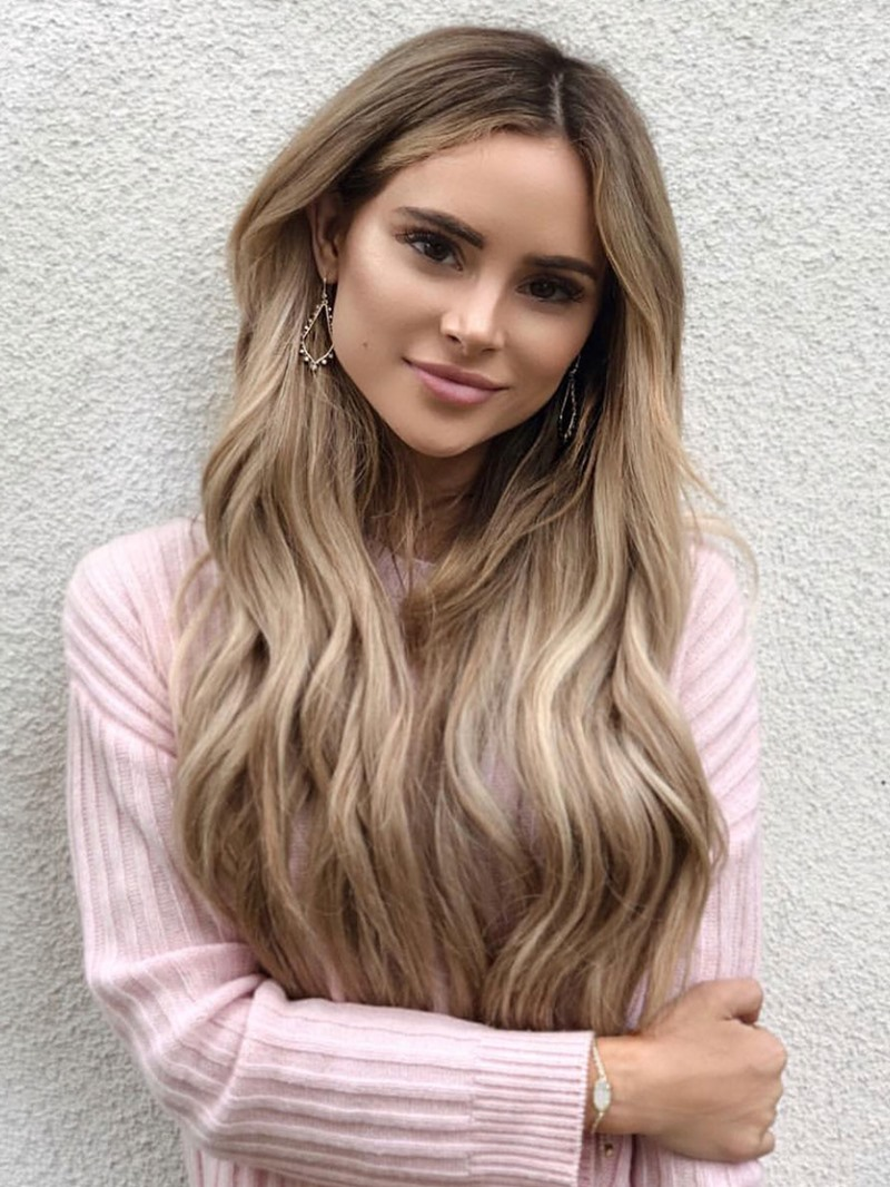 Ericdress Middle Part Long Wavy Synthetic Hair Wigs For Women Natural Looking Capless Wigs 26Inch
