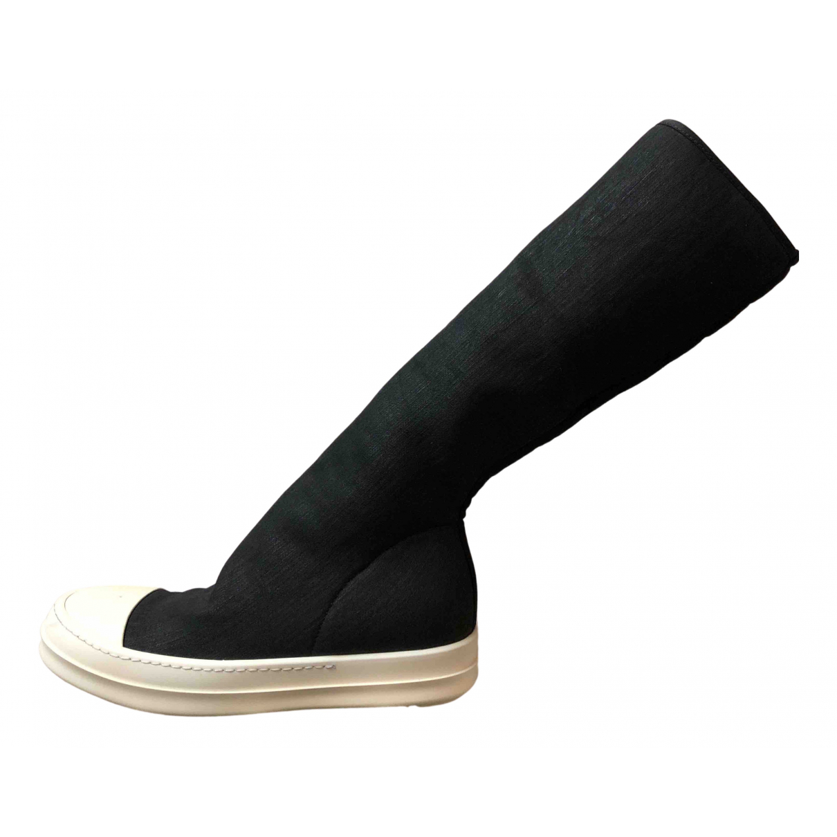 Rick Owens N Black Cloth Trainers for Women 36 IT