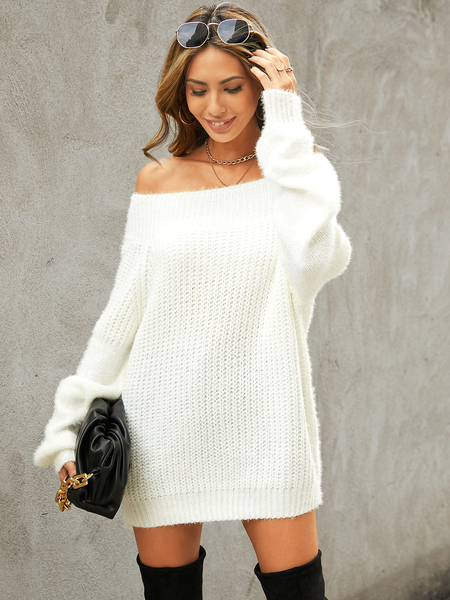 YOINS Off the shoulder Long sleeves Sweater
