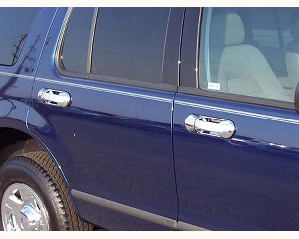 Quality Automotive Accessories ABS | Chrome Door Handle Cover Kit Ford Explorer 2002