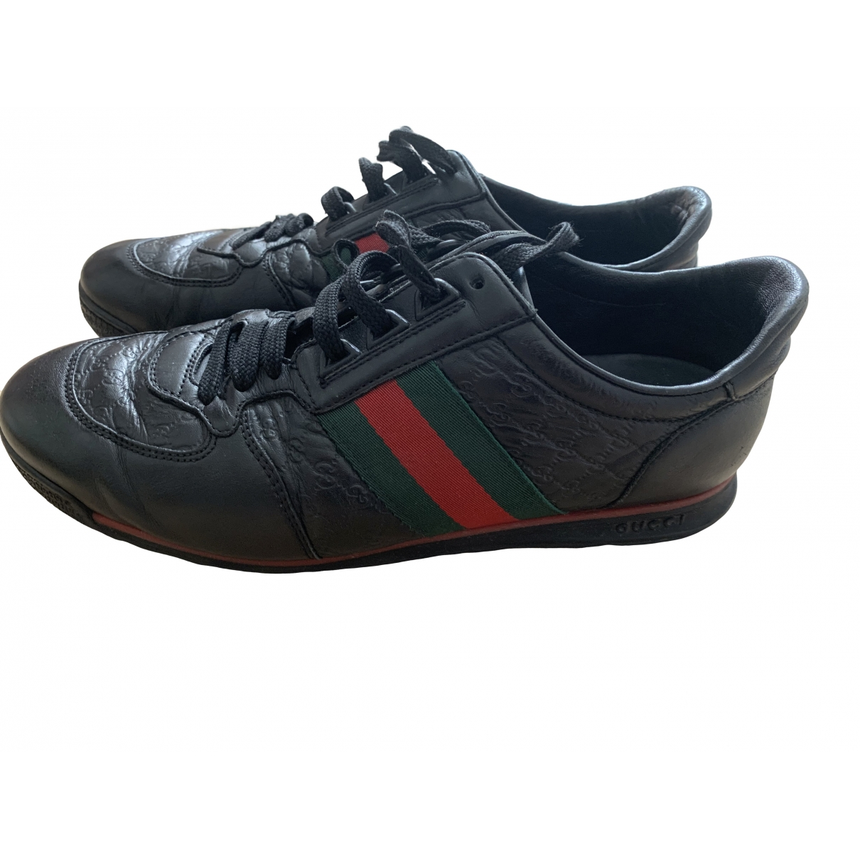 Gucci \N Black Leather Trainers for Men 7 UK