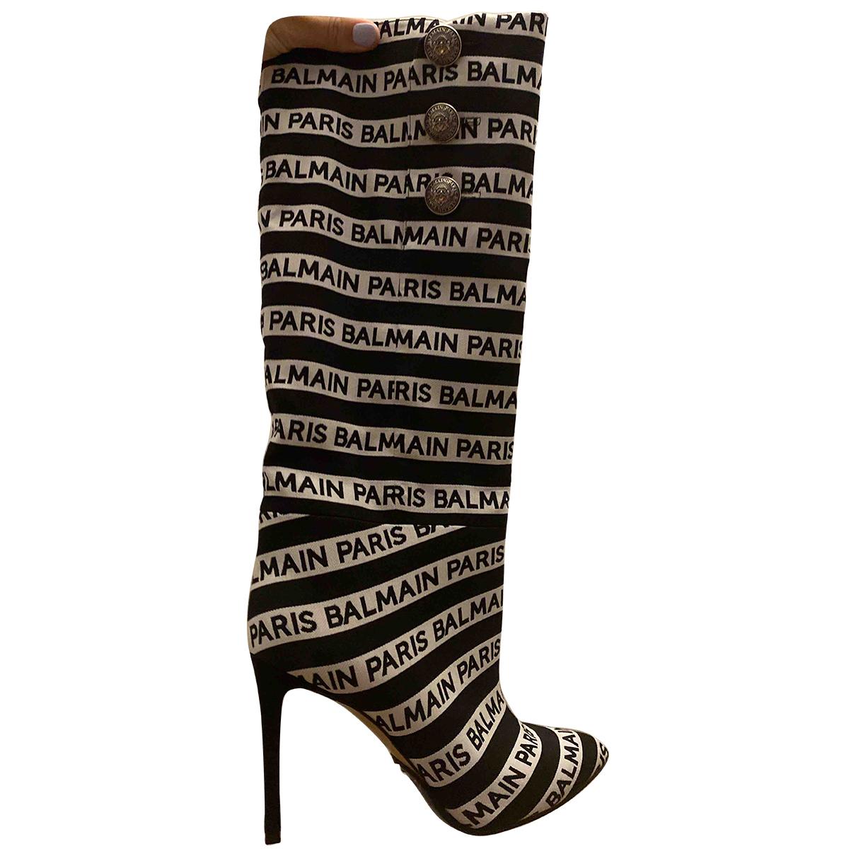 Balmain \N Stiefel in  Schwarz Polyester