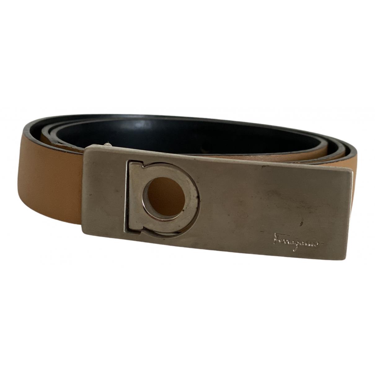 Salvatore Ferragamo N Beige Leather belt for Women 75 cm