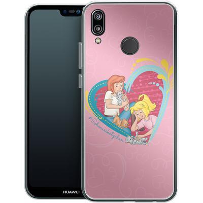 Huawei P20 Lite Silikon Handyhuelle - Bibi und Tina Schmusekaetzchen von Bibi & Tina