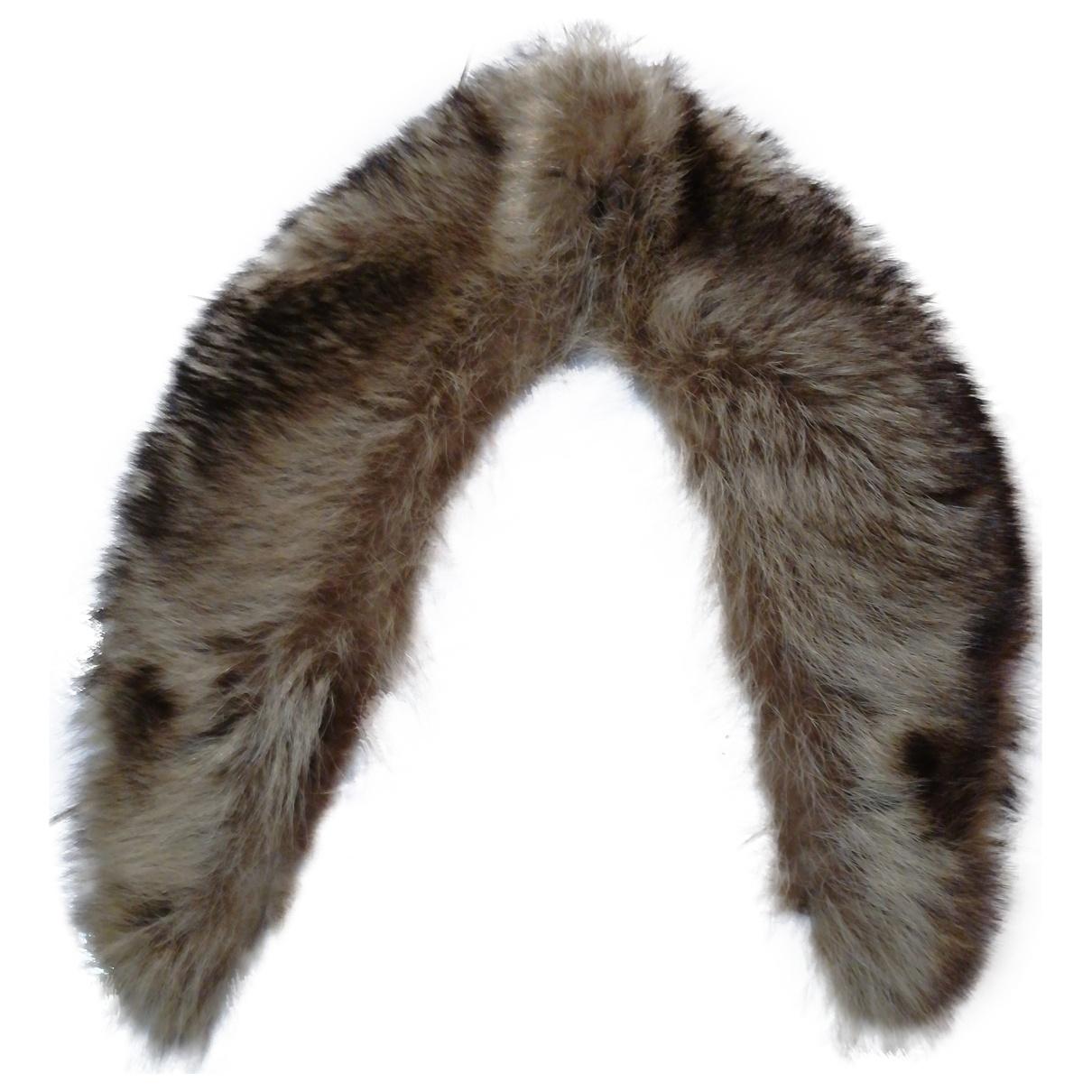 - Foulard   pour femme en renard - marron