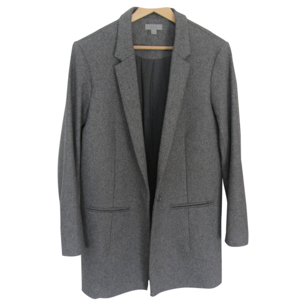 Cos \N Jacke in  Grau Wolle