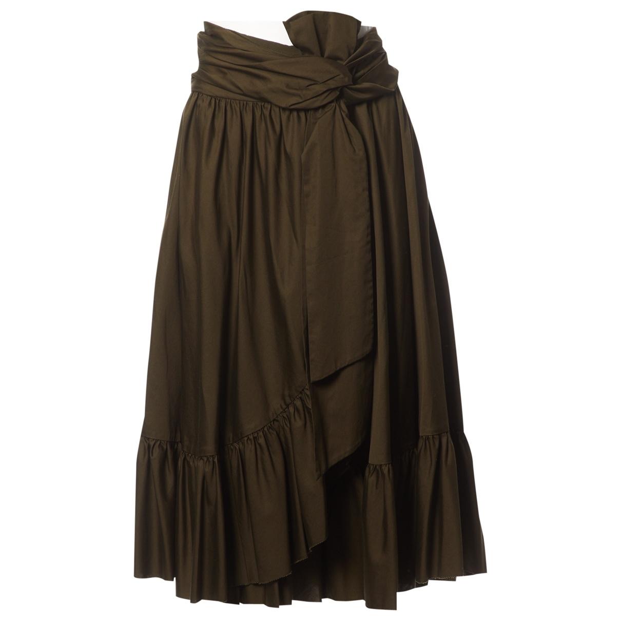 Diane Von Furstenberg \N Khaki Cotton skirt for Women 6 US