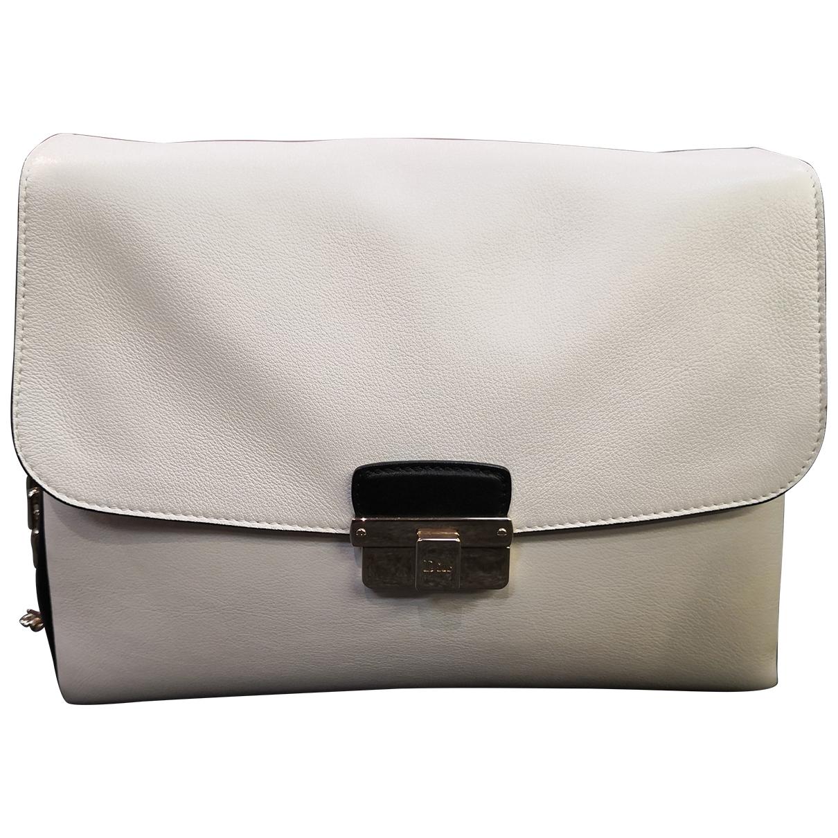 Dior Diorling White Leather handbag for Women \N
