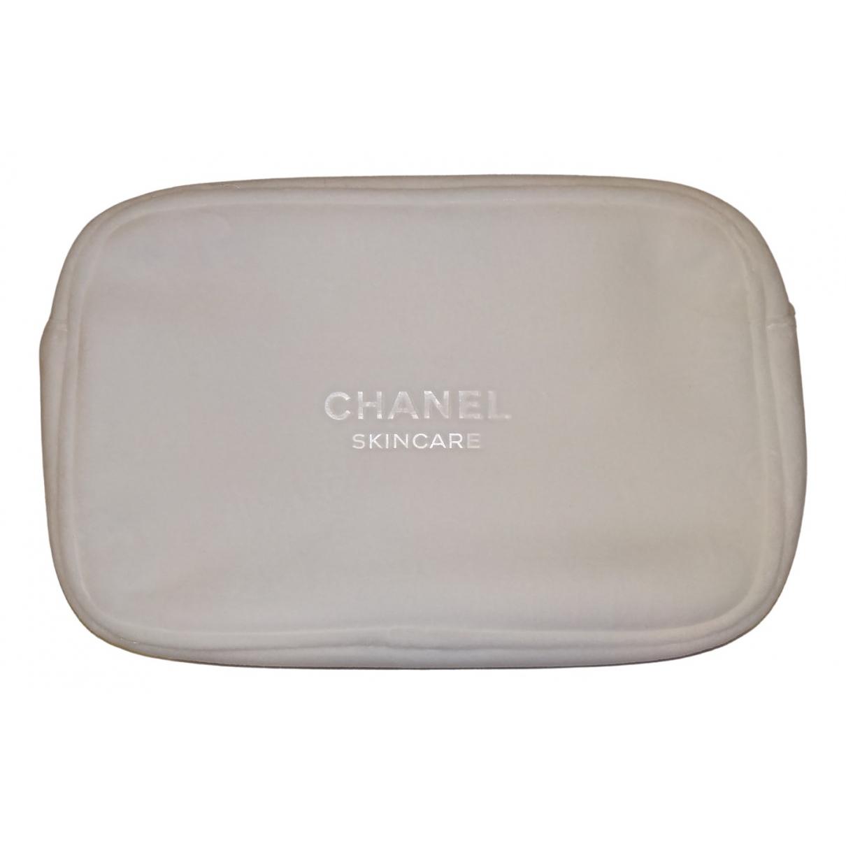 Chanel - Sac de voyage   pour femme en velours - blanc