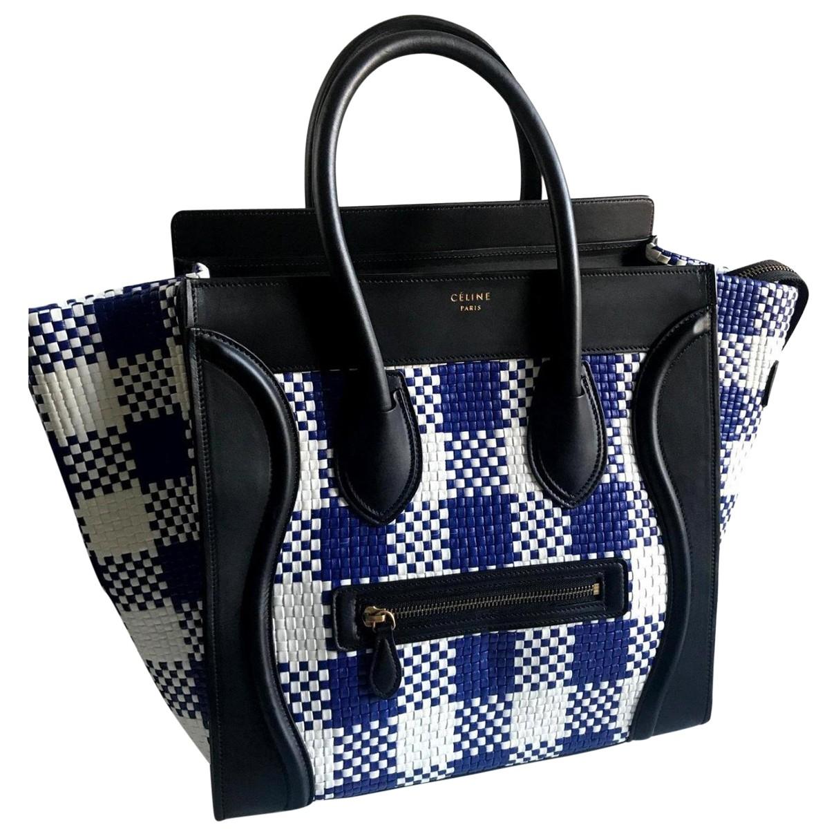 Celine Luggage Blue Leather handbag for Women \N
