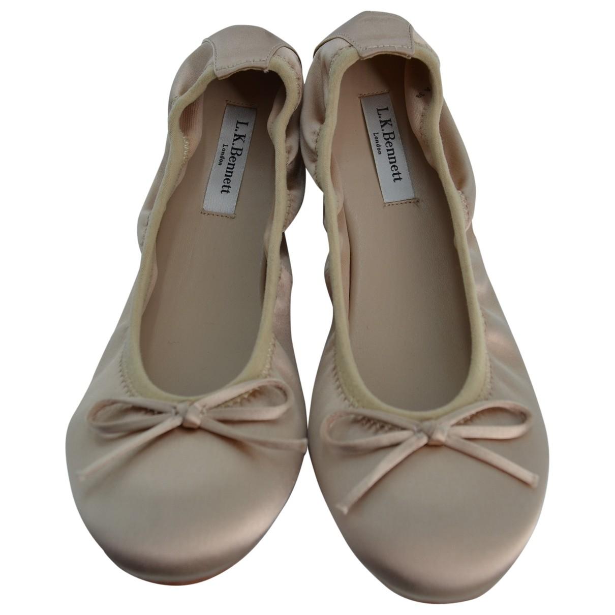 Lk Bennett \N Ballerinas in  Beige Leder