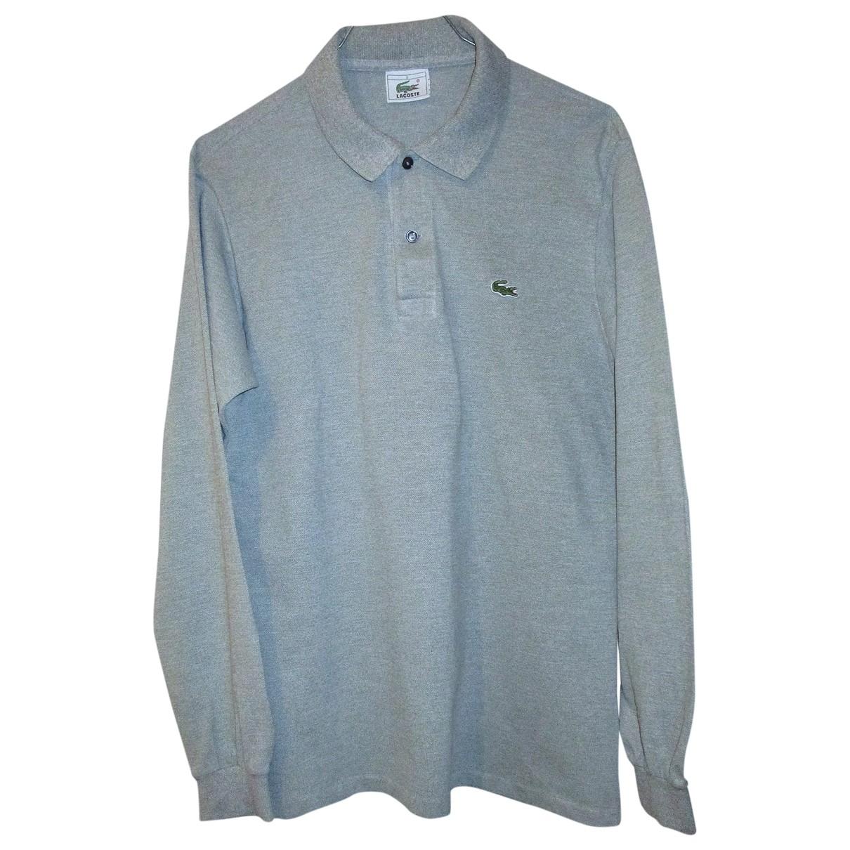 Lacoste - Polos   pour homme en coton - gris