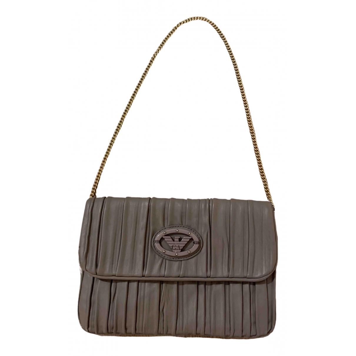 Emporio Armani N Beige Leather handbag for Women N