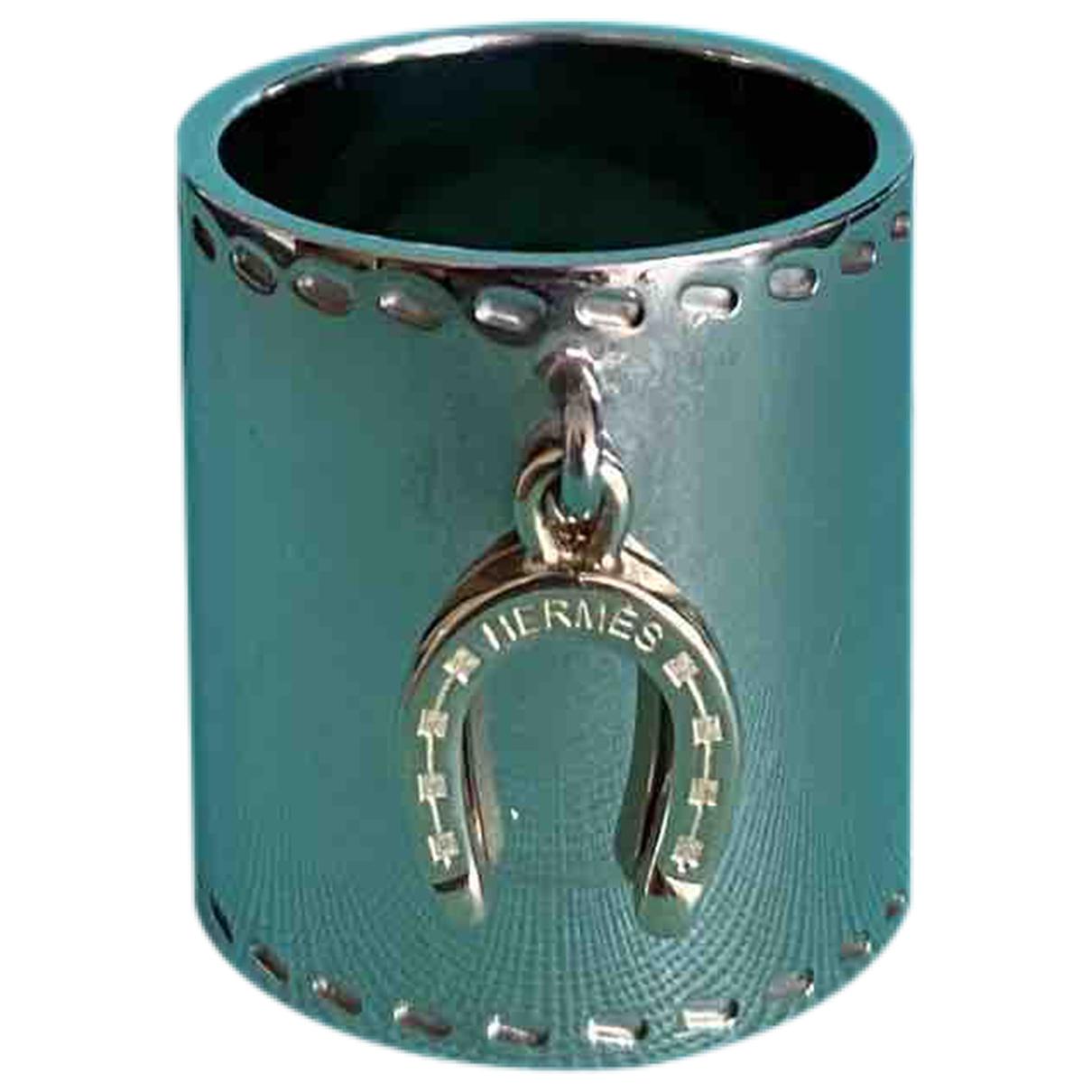 Hermes Anneau de Foulard Schal in  Silber Metall