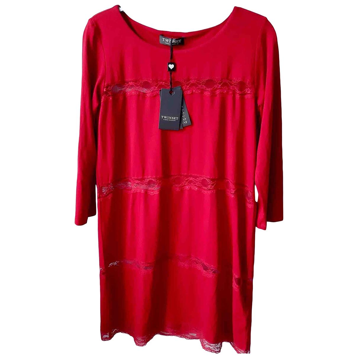 Twin Set \N Kleid in  Rot Viskose