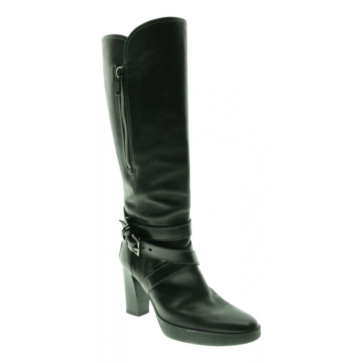 Tod's \N Black Leather Boots for Women 38 EU