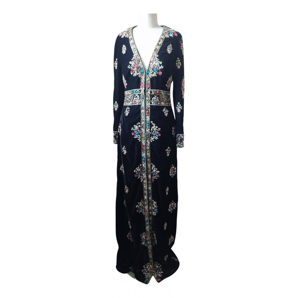 Non Signé / Unsigned \N Black Velvet dress for Women 40 IT