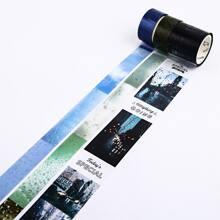 3rolls Scenery Pattern Decorative Tape