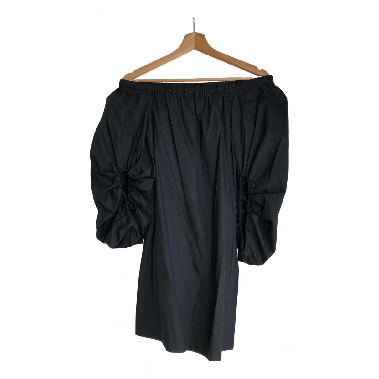 Rebecca Minkoff \N Kleid in  Schwarz Baumwolle