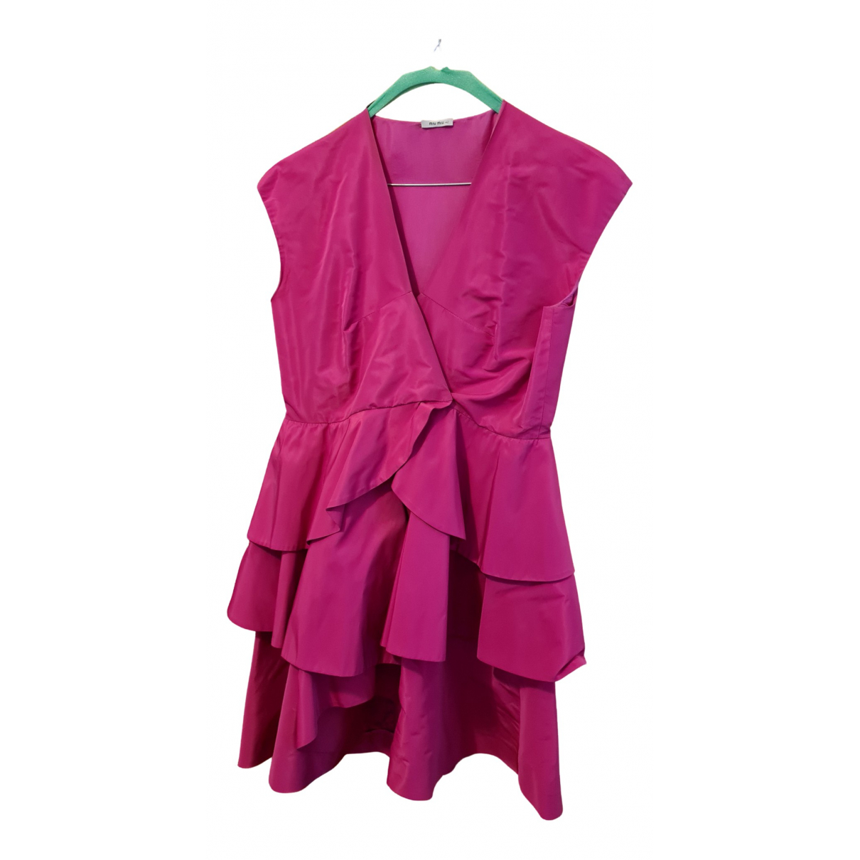 Miu Miu N Pink Silk dress for Women 42 IT