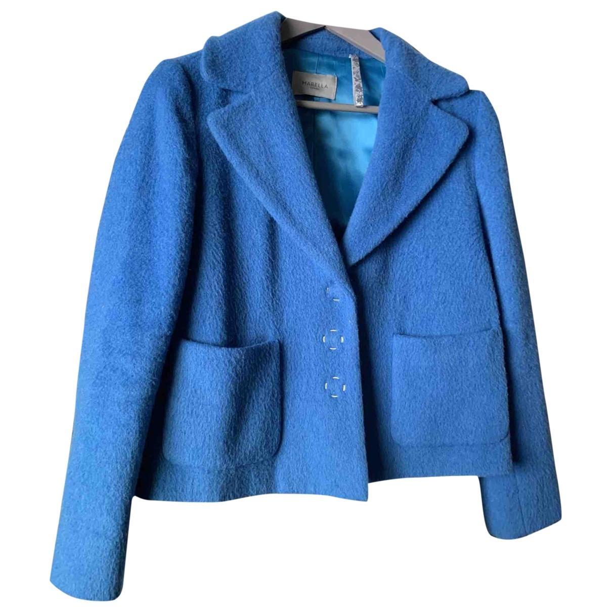 Marella - Veste   pour femme en laine - bleu