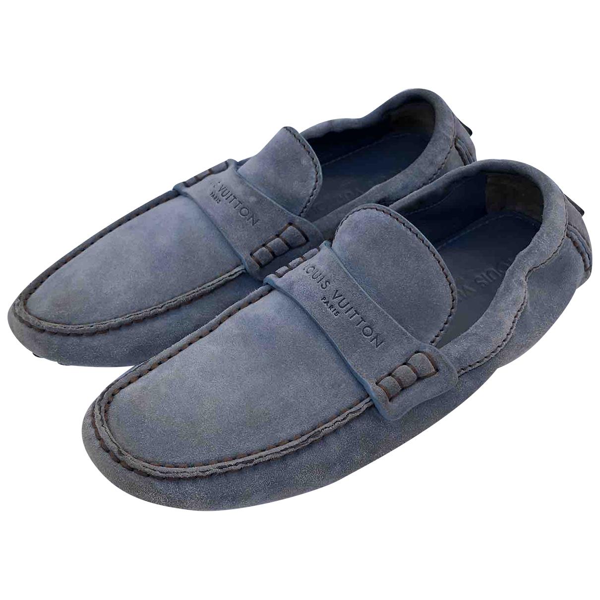 Louis Vuitton \N Blue Suede Flats for Men 6.5 UK