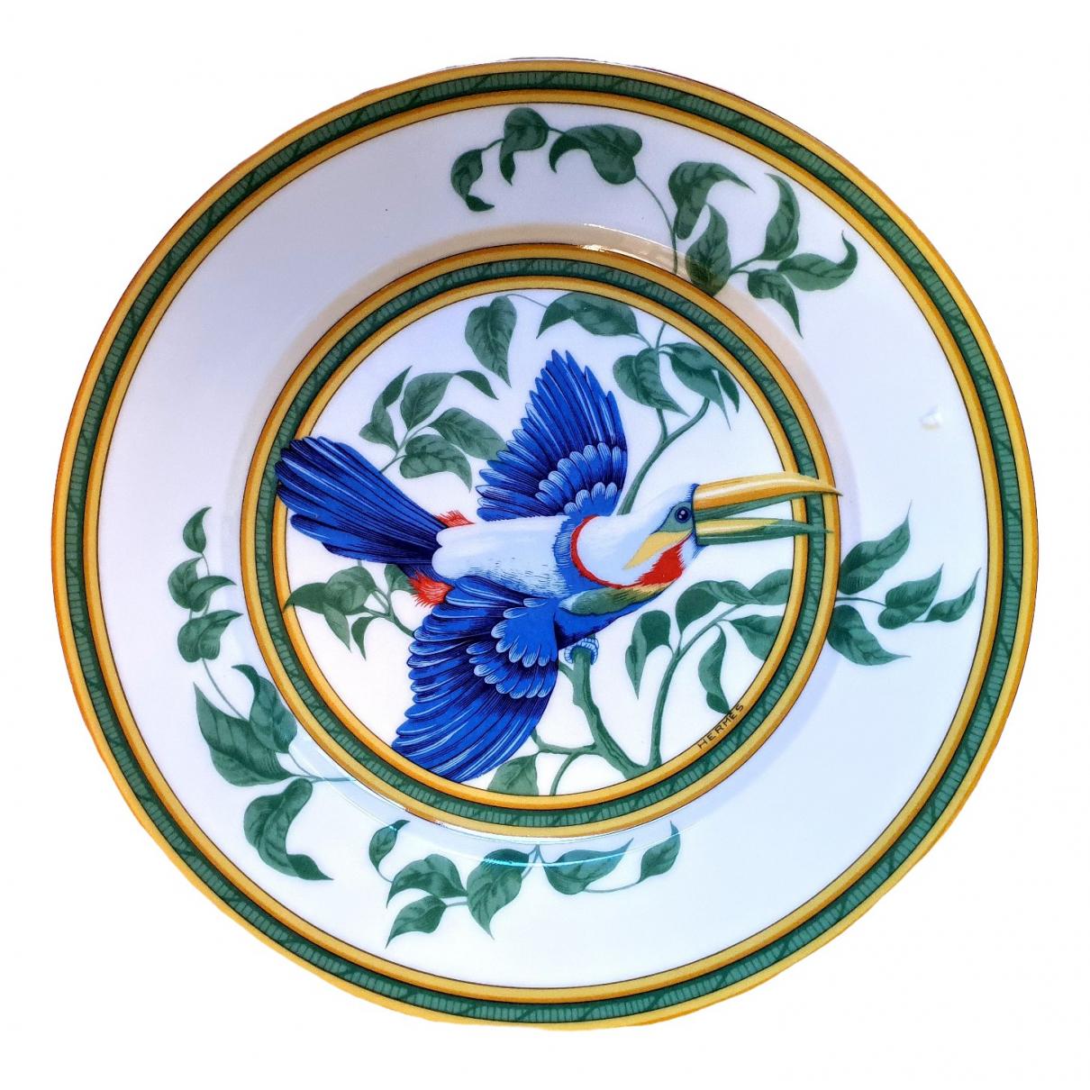 Hermes - Arts de la table Toucans pour lifestyle en porcelaine - blanc