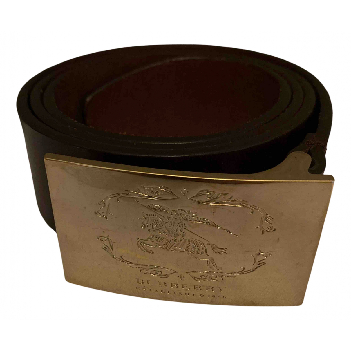Burberry N Brown Leather belt for Women 90 cm