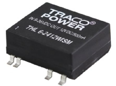 TRACOPOWER THL 6WISM 6W Isolated DC-DC Converter Surface Mount, Voltage in 9 → 36 V dc, Voltage out 3.3V dc