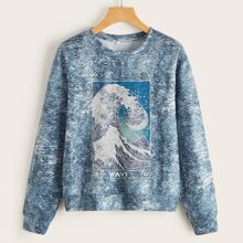 Wave Graphic Sweatshirt