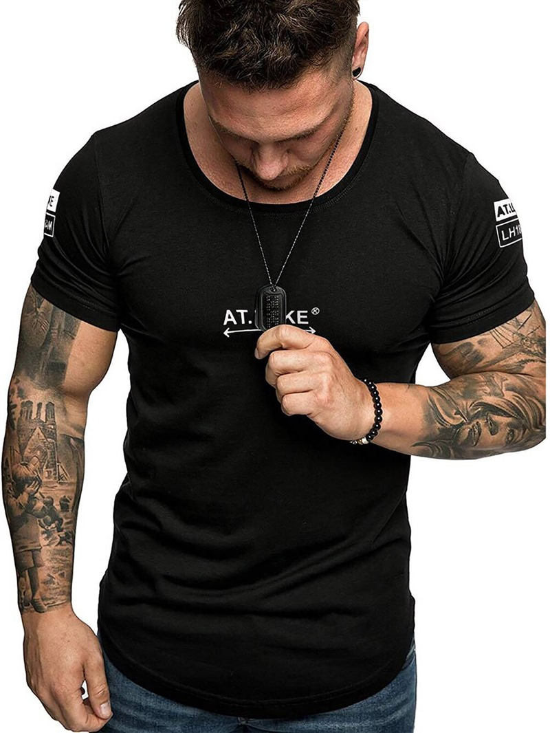 Ericdress Slim Mens T-shirt