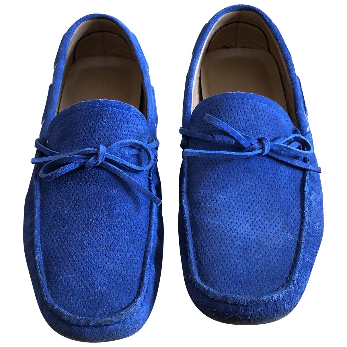 Giorgio Armani \N Blue Suede Flats for Men 10 UK