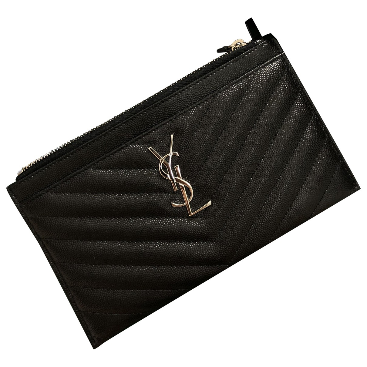 Billetero Monogramme de Cuero Saint Laurent