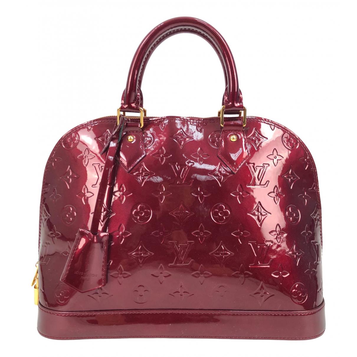 Louis Vuitton Alma Handtasche in  Bordeauxrot Lackleder