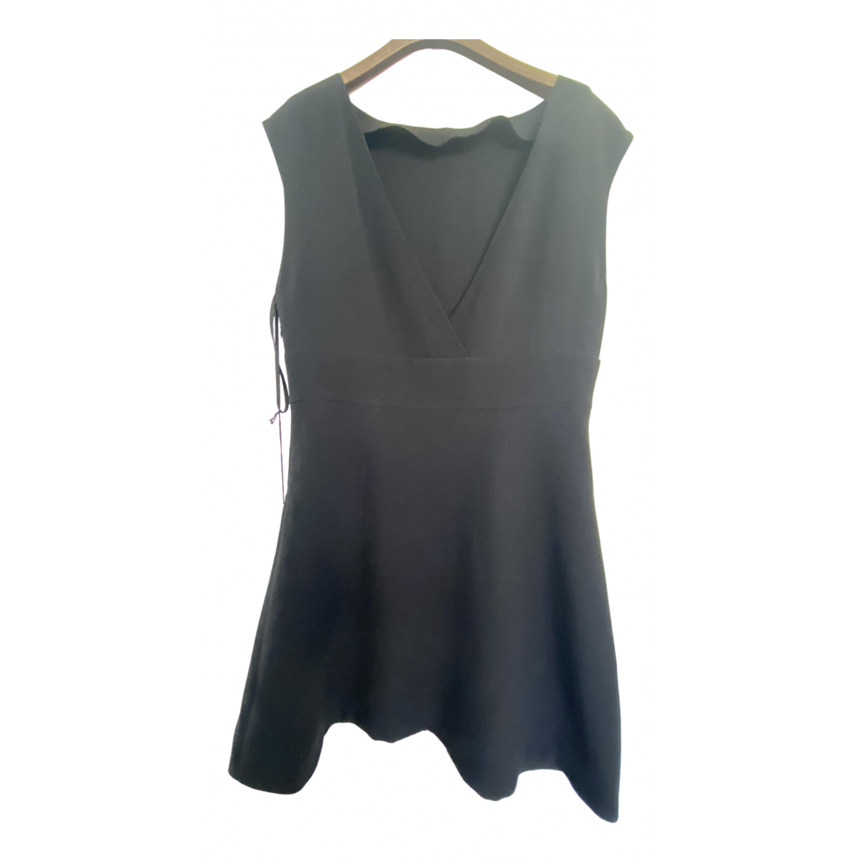 Miu Miu \N Kleid in  Schwarz Viskose
