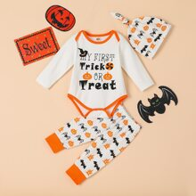 Baby Unisex Halloween Bodysuit With Sweatpants