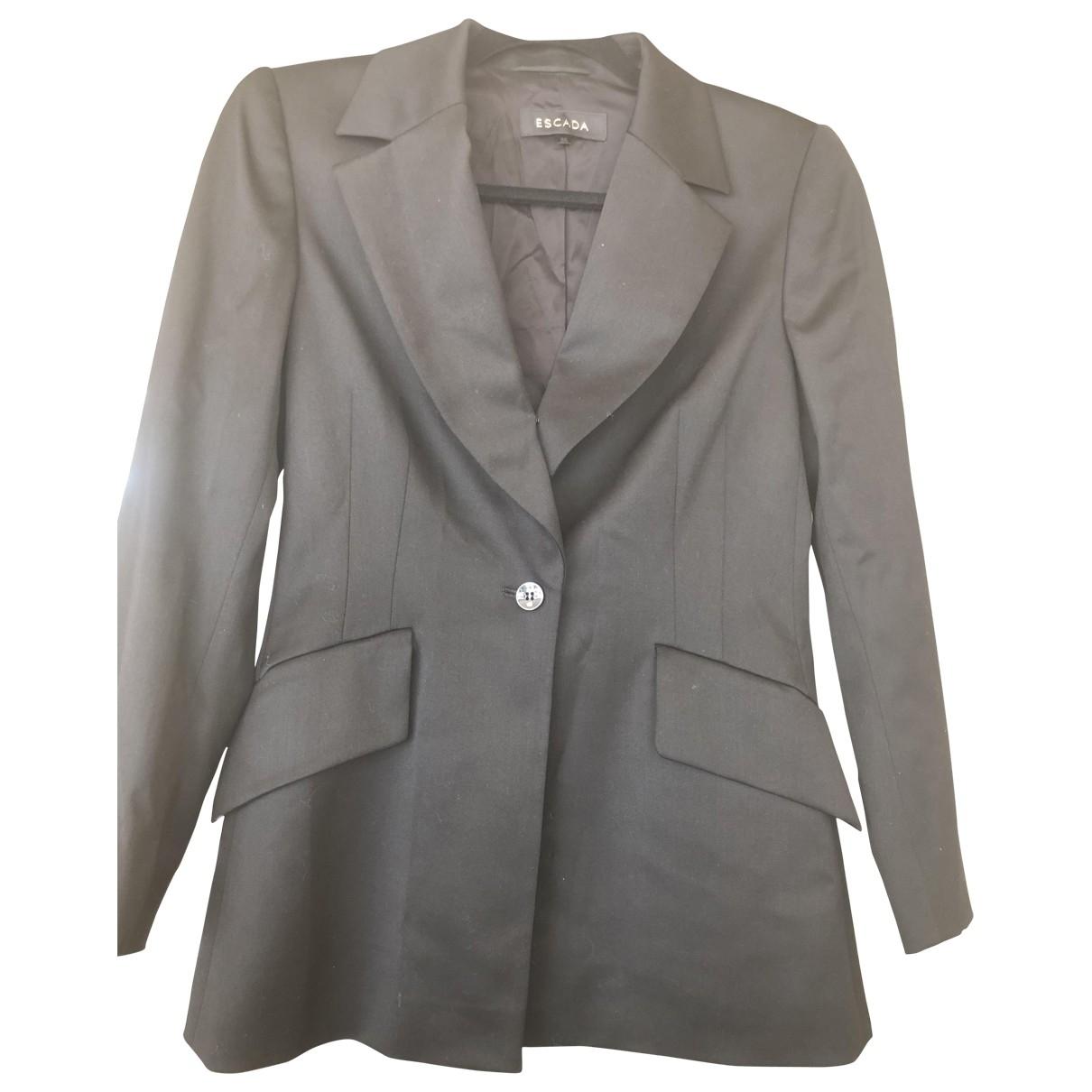 Escada \N Black Wool jacket for Women 36 FR