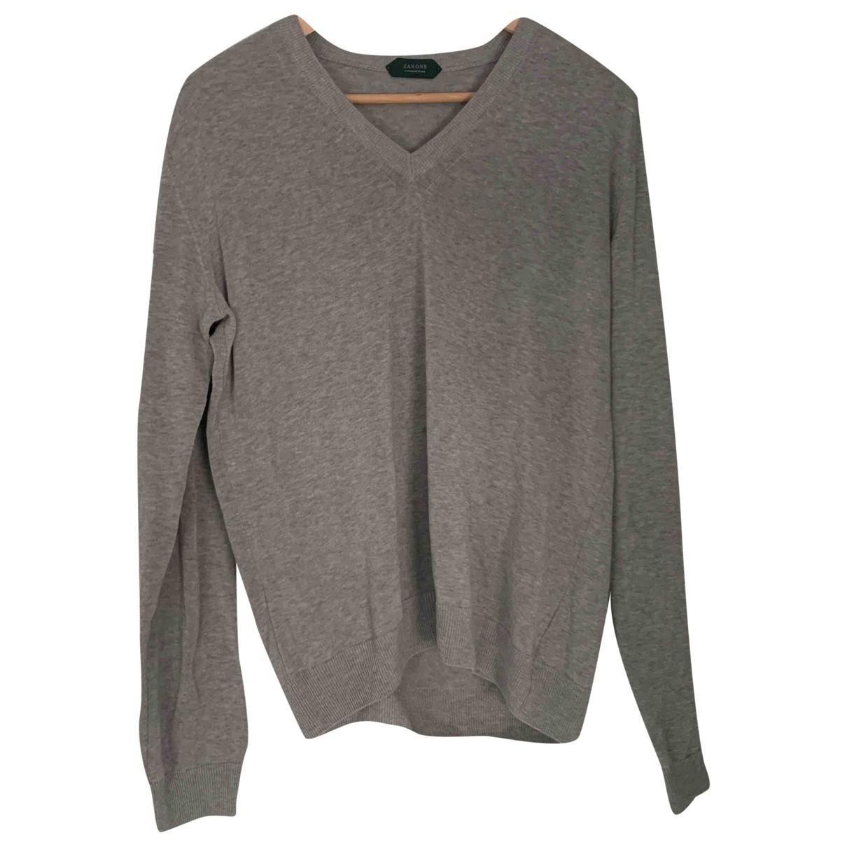 Zanone \N Pullover.Westen.Sweatshirts  in  Grau Baumwolle
