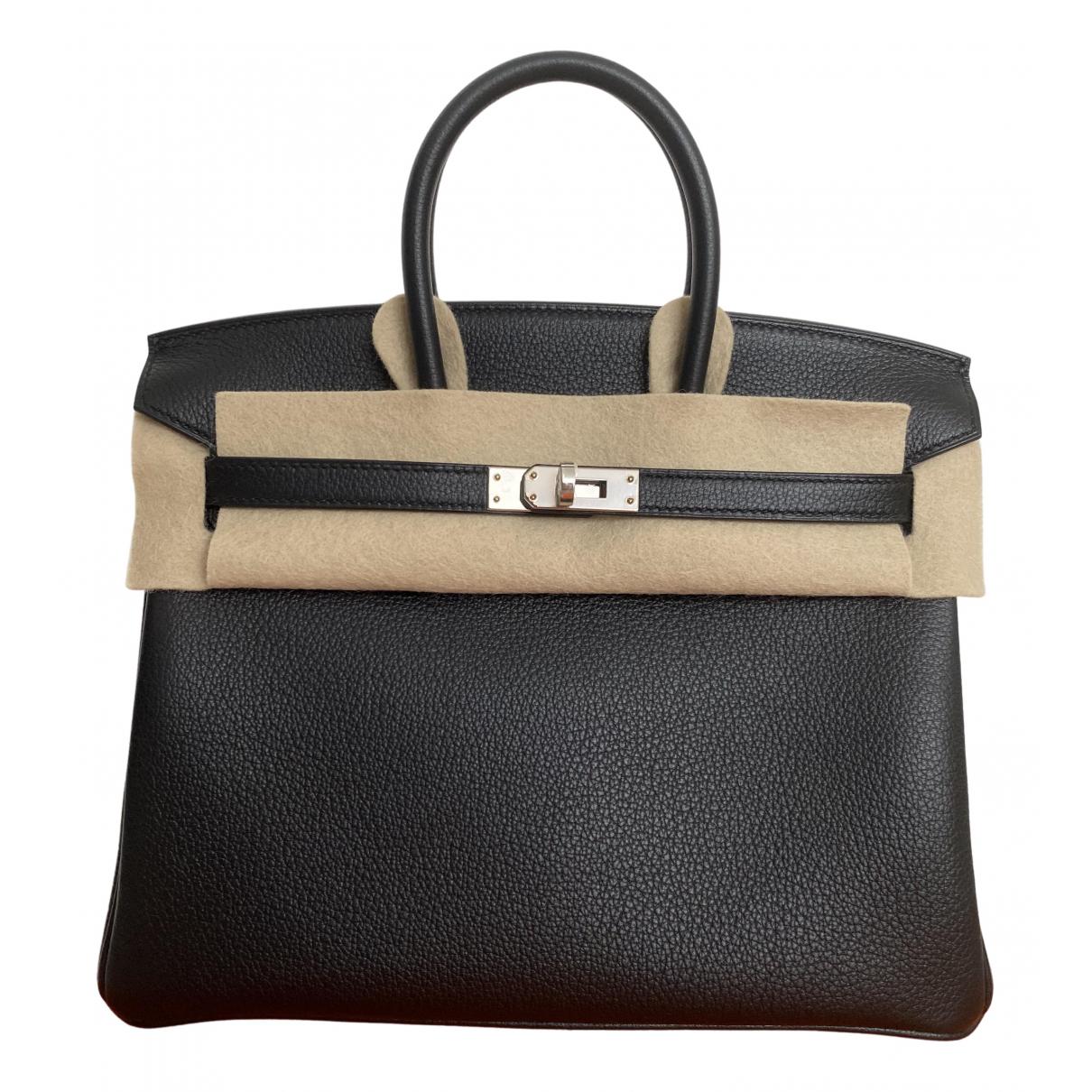 Hermès Birkin 25 Black Leather handbag for Women \N