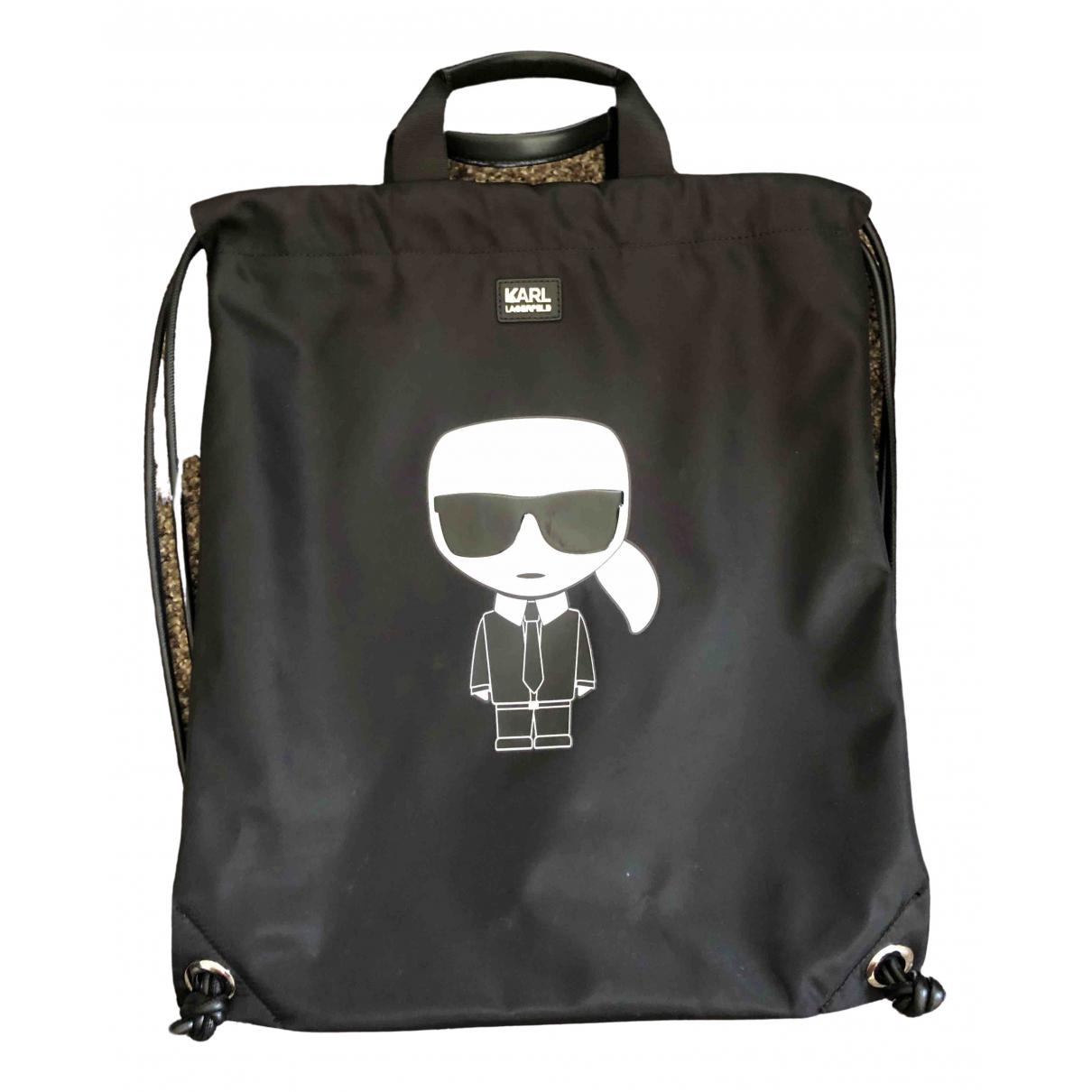 Karl Lagerfeld \N Handtasche in  Schwarz Leinen