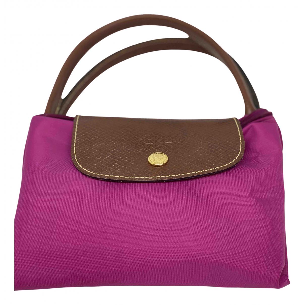 Longchamp - Sac a main Pliage  pour femme en coton - rose